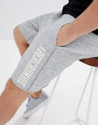 Abercrombie & Fitch Core Script Logo Sweat Shorts in Gray Marl