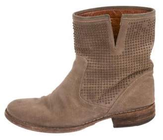 Fiorentini+Baker Distressed Embellished Boots Tan Distressed Embellished Boots