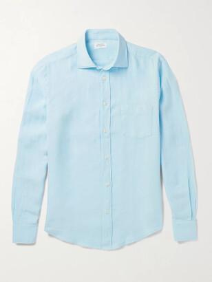 Hartford Linen Shirt - Men - Blue