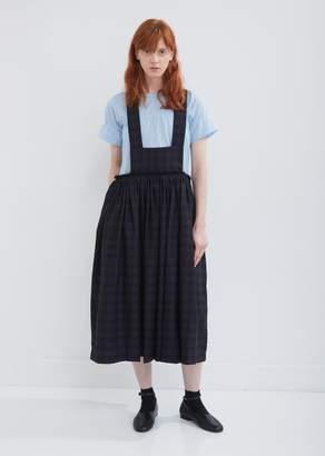 Comme des Garcons Wool Mottled Check Suspender Skirt