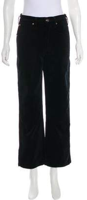 Gold Sign Corduroy High-Rise Pants w/ Tags