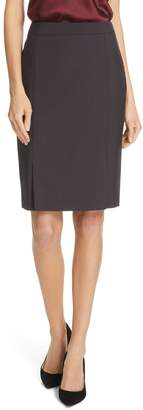 BOSS Venisia Mini Houndstooth Wool Pencil Skirt