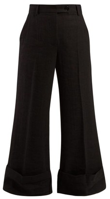 J.W.Anderson Sailor Crepe Trousers - Womens - Black
