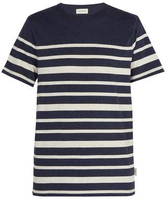 Oliver Spencer Conduit Striped Cotton Jersey T Shirt - Mens - Navy Multi