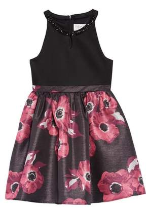 Blush by Us Angels Floral Illusion Dress