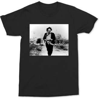 Men Leatherface Movie Graphic T-Shirt