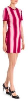 Moschino Striped Pleated Hem Dress