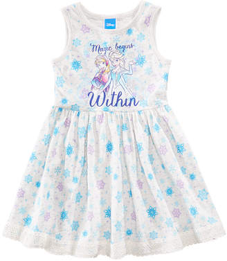 Disney Disney's Frozen Snowflake-Print Dress, Little Girls