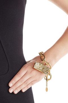 MoschinoMoschino Gold-Tone Brass Bracelet