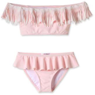 Stella Cove Girls' Fringe Bikini Two-Piece Swim Set, 4T-14