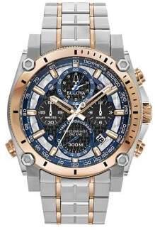 Bulova Precisionist Chronograph Stainless Steel Bracelet Watch