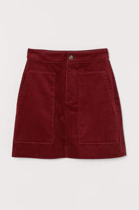H&M Corduroy Skirt - Red
