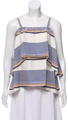 Tanya Taylor Sleeveless Striped Top