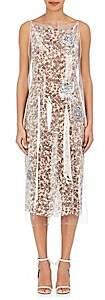 Calvin Klein Women's Plastic-Layered Wrap Dress-White