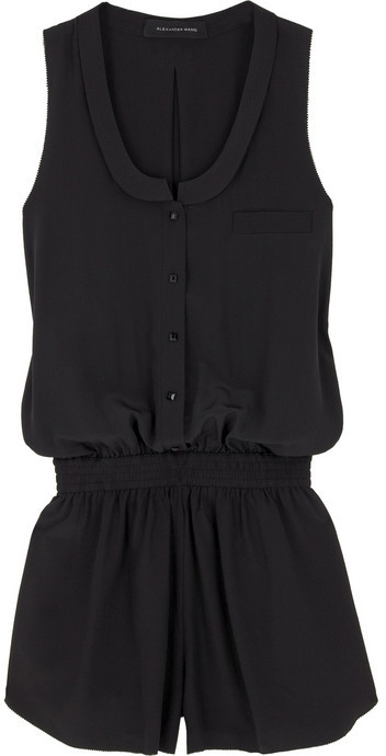 Alexander Wang Silk racer back playsuit