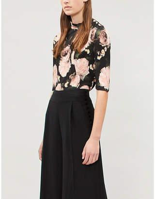 Erdem Kacey floral-print woven top