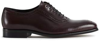 Reiss Our last order date for Christmas has now passed RIVERS LEATHER BROGUES Bordeaux