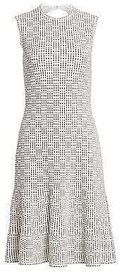 St. John Women's Graphic Ottoman Knit Fit-&-Flare Dress