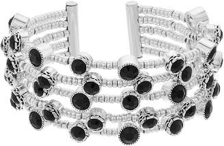 Dana Buchman Simulated Crystal Textured Multirow Stretch Bracelet