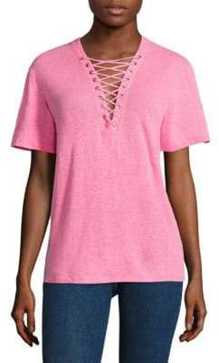 IRO Imis Lace-Up Tee