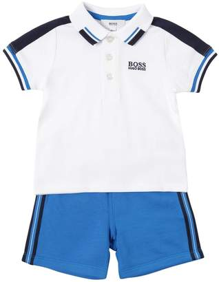 HUGO BOSS Cotton Piqué Polo Shirt & Shorts