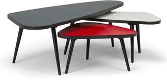 Simpli Home Aubrey Nesting Coffee Table 3-piece Set