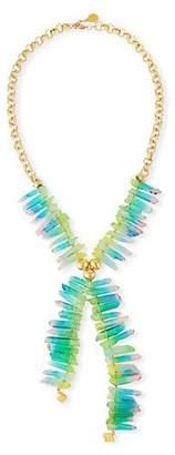 Devon Leigh Rainbow Spike Quartz Necklace