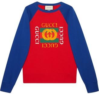 Gucci Cotton jersey sweatshirt with logo