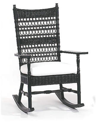 One Kings Lane Vineyard's Wicker Rocking Chair - Black