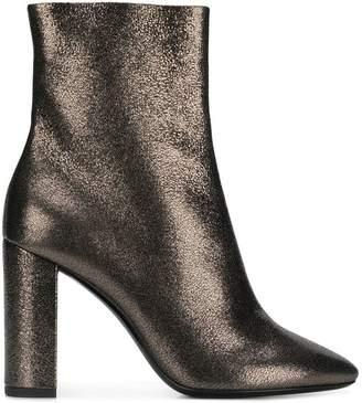 Saint Laurent Lou metallic ankle boots