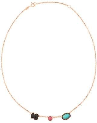 """Tous Onyx, Rhodonite & Amazonite Necklace, 18"""""""
