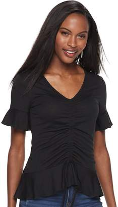 Juicy Couture Women's Gathered Front Flutter-Sleeve Top