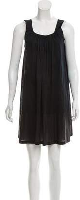 Fendi Silk-Trimmed Colorblock Dress