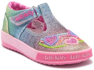 Lelli Kelly Kids Rainbow Hearts T-Bar Shoe (Baby & Toddler)