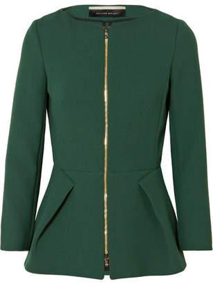 Roland Mouret Erickson Wool-crepe Jacket - Green