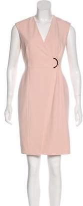 Calvin Klein V-Neck Knee-Length Dress