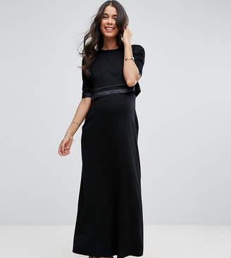 Asos Nursing Tall Nursing Double Layer Maxi Dress
