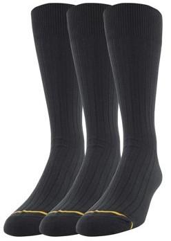 Gold Toe Gt a Goldtoe Brand Men's Big & Tall Cotton Rib Dress Casual Socks, 3-Pack