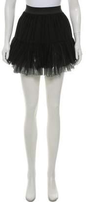 Faith Connexion Silk Tulle Mini Skirt