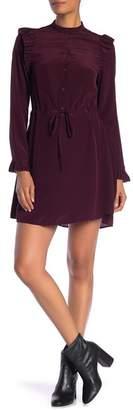 AllSaints Sora Tie-Waist Silk Dress