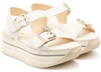 Hogan Leather Platform Sandals
