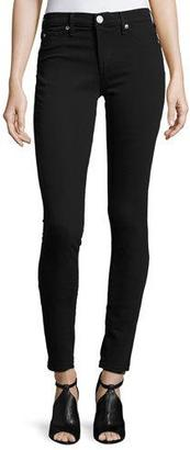 True Religion Halle Mid-Rise Super-Skinny Jeans, Jet Black $159 thestylecure.com