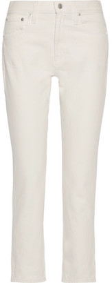 Madewell - The Perfect Summer Cropped High-rise Straight-leg Jeans - White $115 thestylecure.com