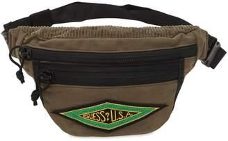GUESS U.s.a. Logo Patch Cotton Belt Bag