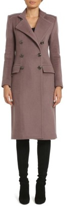 Women's Badgley Mischka Trinity Embroidered Long Wool Blend Coat $495 thestylecure.com
