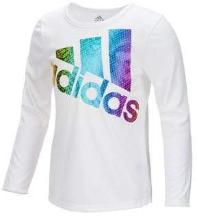 adidas Little Girl's Long Sleeve Climalite Ignite Tee