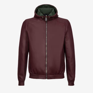 Hooded Leather Jacket $2,495 thestylecure.com