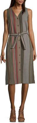 Liz Claiborne Sleeveless Sundress-Tall
