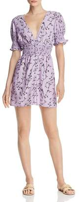 Keepsake Secure Floral Smocked-Waist Mini Dress