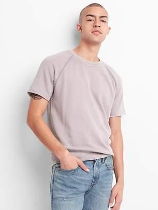 Gap Short Sleeve Crewneck Sweatshirt in French Terry